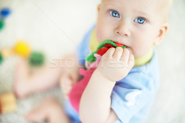 Blue-eyed baby Stock photo © pressmaster