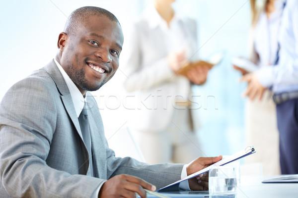 Stockfoto: Professionele · glimlach · portret · vrolijk · business · werknemer