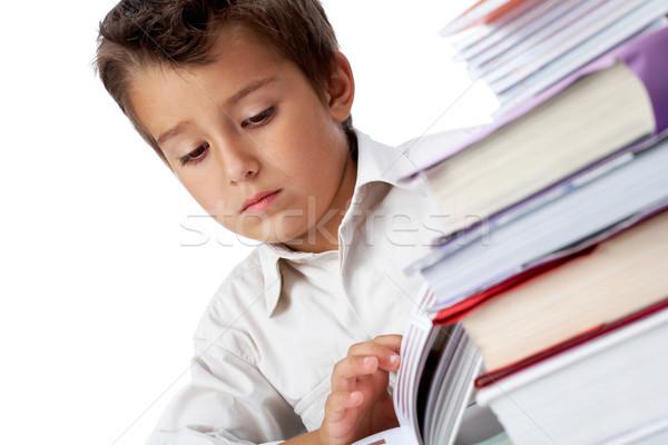 Rapaz foto pensativo olhando Foto stock © pressmaster