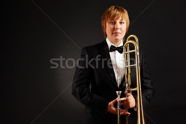 Female with trombone Stock photo © pressmaster
