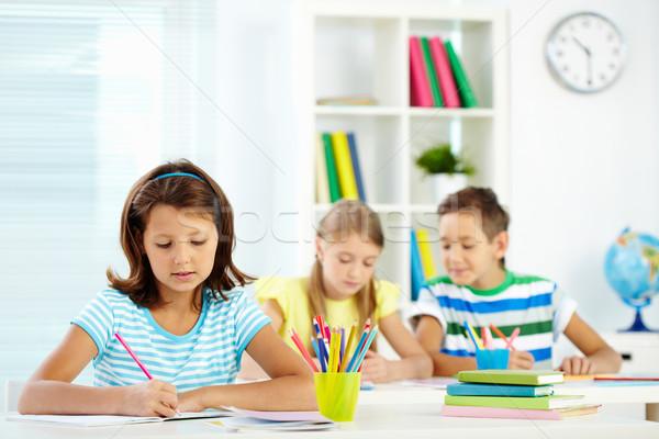 Girl drawing Stock photo © pressmaster