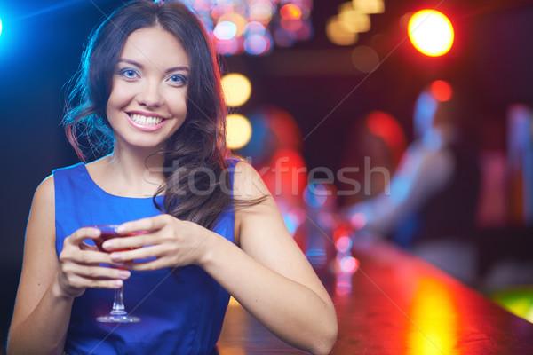 Happy brunette Stock photo © pressmaster