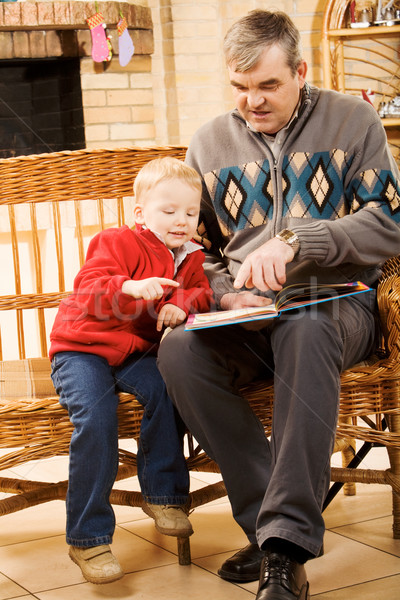 интересный рассказ портрет внимательный мальчика глядя Сток-фото © pressmaster