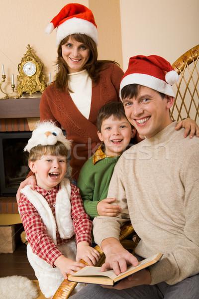 Alegre familia feliz pie otro riendo Foto stock © pressmaster