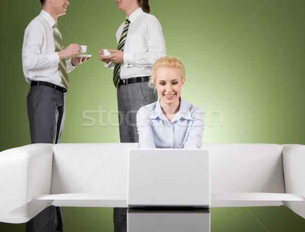 Ocupado recepcionista imagen bastante secretario de trabajo Foto stock © pressmaster