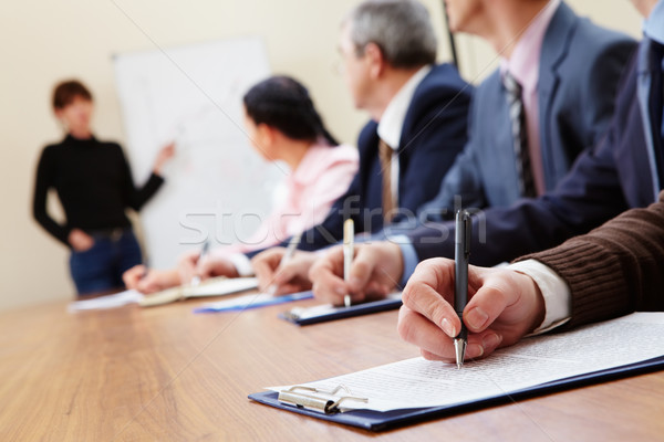 Stock photo: At presentation