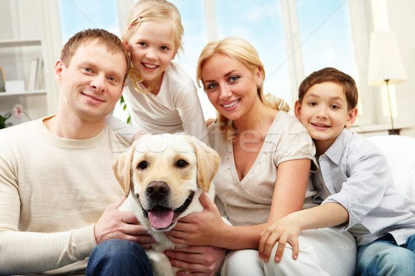 Stock photo: Average family
