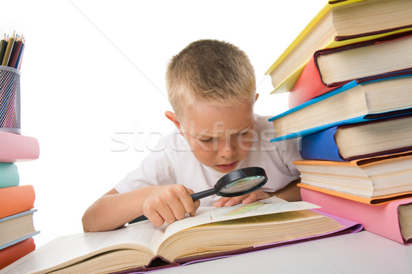 Stock photo: Diligent pupil