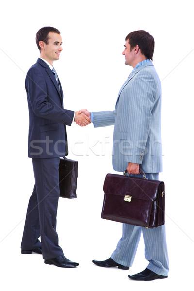 Greeting men Stock photo © pressmaster