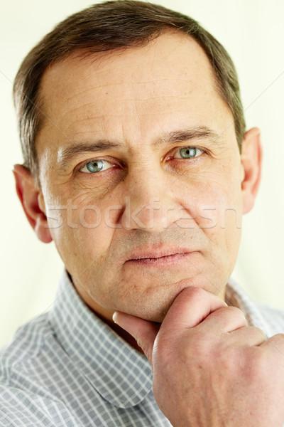 Touching face Stock photo © pressmaster