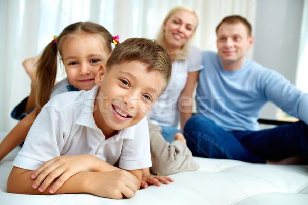 Photo stock: Enfants · portrait · accueillant · frère · soeur
