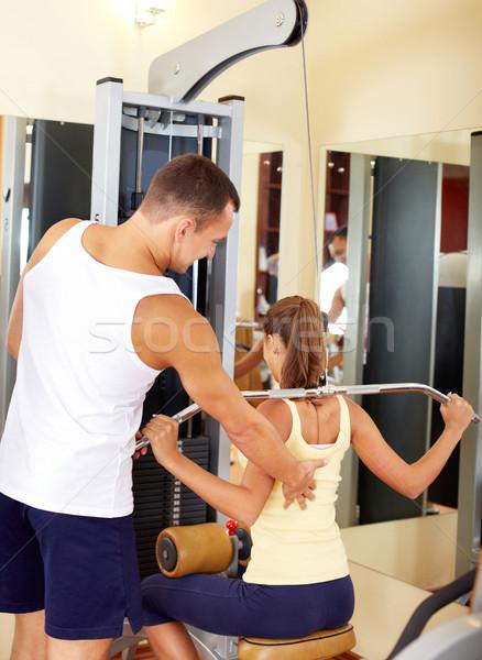 Training portret vrouwelijke oefening jonge Stockfoto © pressmaster