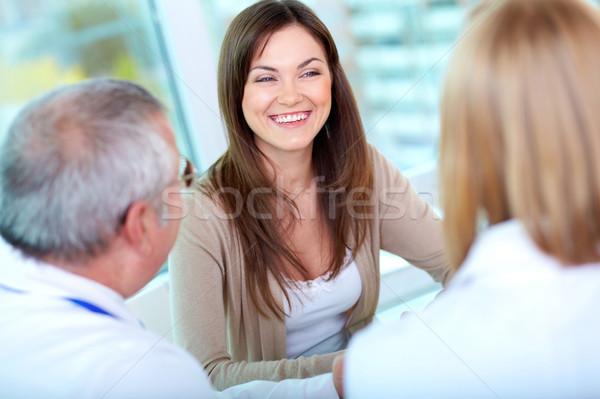 Foto stock: Paciente · clínica · retrato · femenino · consulta · hospital