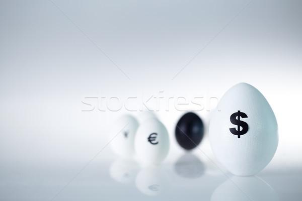 Stock fotó: Vezető · valuta · kép · nagy · tojás · dollárjel