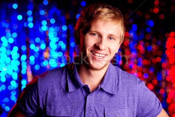 Boldog klubber kép fickó néz kamera Stock fotó © pressmaster