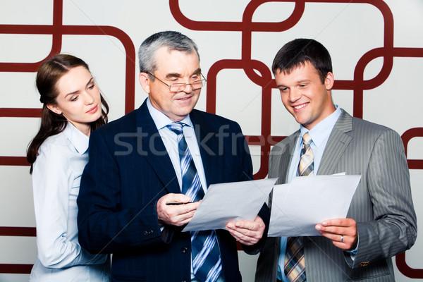 üzleti csoport portré üzletemberek megbeszél új projekt Stock fotó © pressmaster