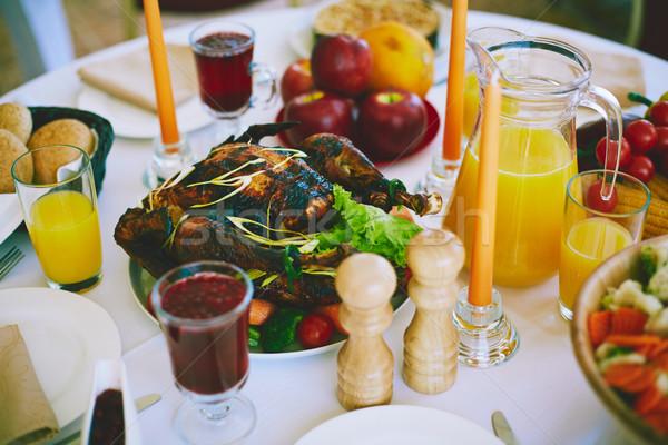 Iştah açıcı akşam yemeği görüntü Türkiye hizmet Stok fotoğraf © pressmaster