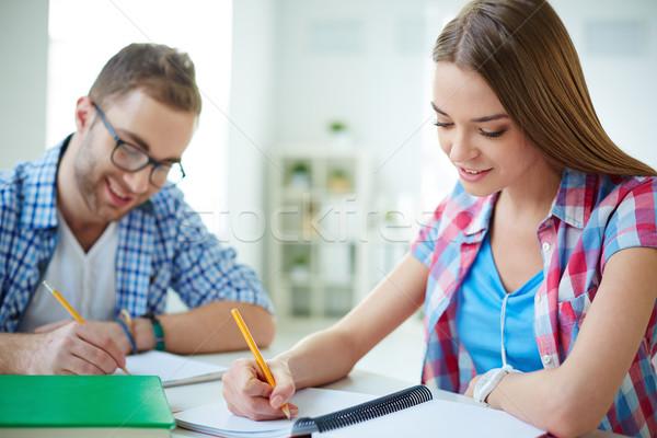 Сток-фото: занят · студентов · Smart · девушки · из