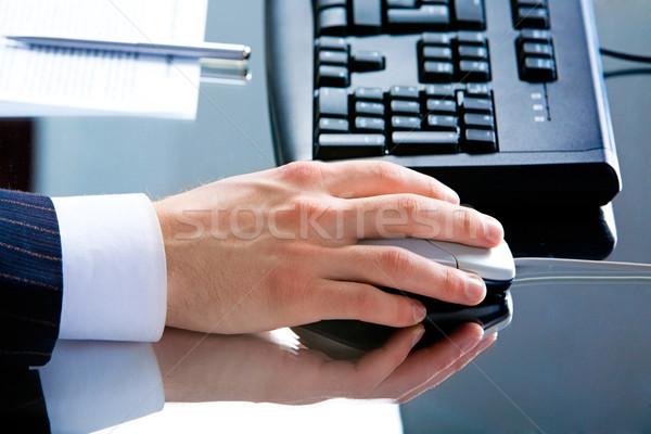 手 マウスを使用して 写真 男性 マウス ストックフォト © pressmaster