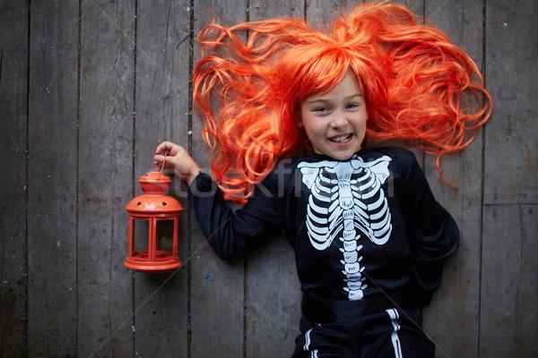 Child with lantern Stock photo © pressmaster