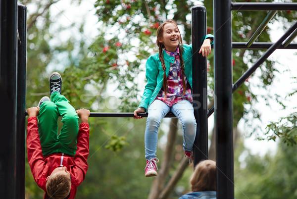 Gelukkig vrienden school tijd sport onderwijs Stockfoto © pressmaster