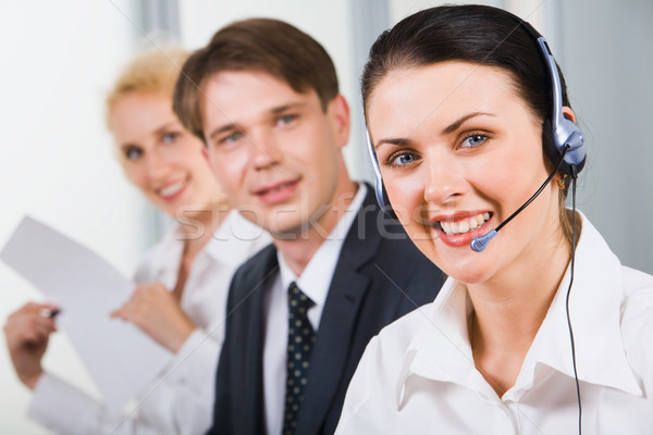 Friendly customer support team Stock photo © pressmaster
