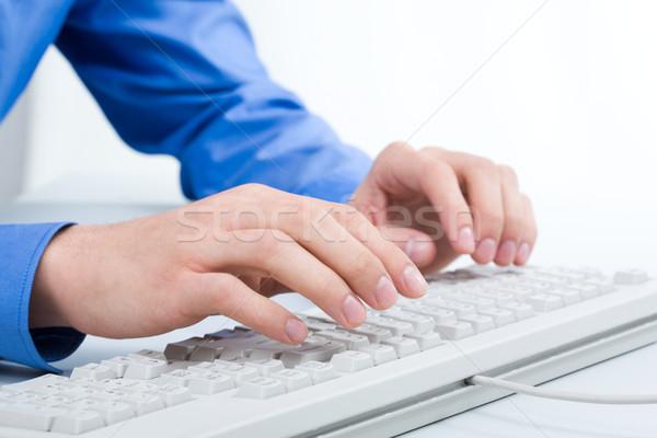 Stock fotó: Számítógép · munka · fotó · üzletember · üzlet · laptop