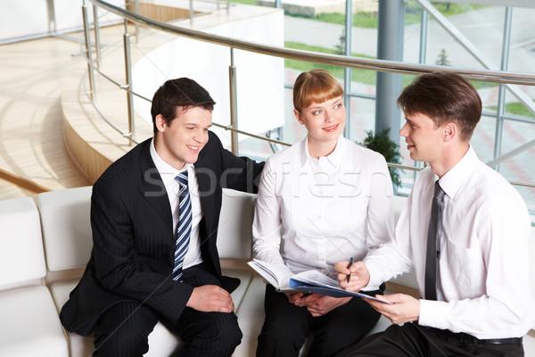 Onderhandelingen foto bedrijf geslaagd mensen planning Stockfoto © pressmaster