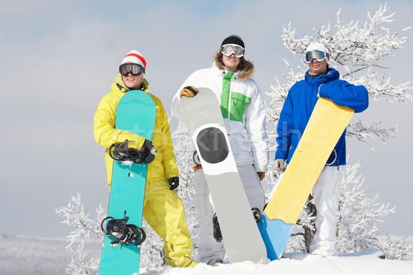 Three snowboarders Stock photo © pressmaster