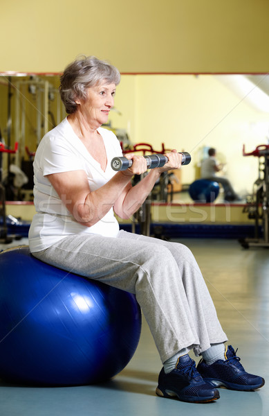 Mujer formación retrato ejercicio sesión Foto stock © pressmaster
