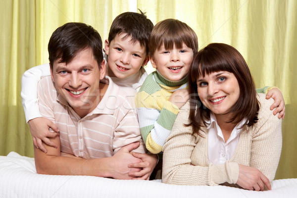 Smiling family Stock photo © pressmaster