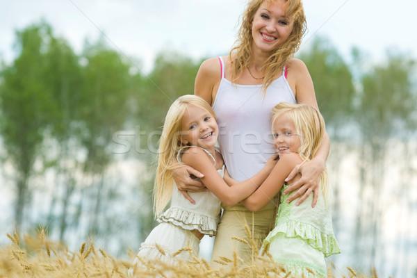 Сток-фото: радостный · семьи · близнец · матери