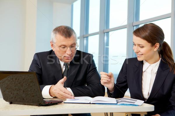 планирования работу Boss секретарь служба бизнеса Сток-фото © pressmaster
