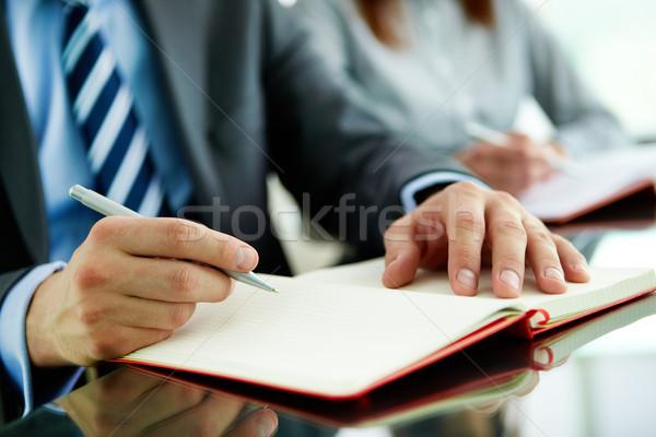 подготовки бизнеса работник рук студент Сток-фото © pressmaster