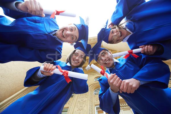 Daire grup akıllı Öğrenciler mezuniyet Stok fotoğraf © pressmaster