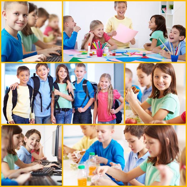коллаж Smart дружественный школы образование Сток-фото © pressmaster