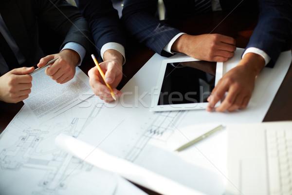 Planning werk afbeelding menselijke handen discussie Stockfoto © pressmaster