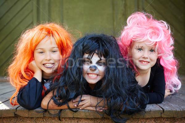 Girls grinning Stock photo © pressmaster