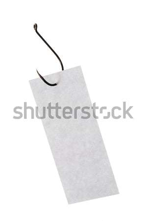 Schrijfpapier haak afbeelding grijs rechthoekig papier Stockfoto © pressmaster