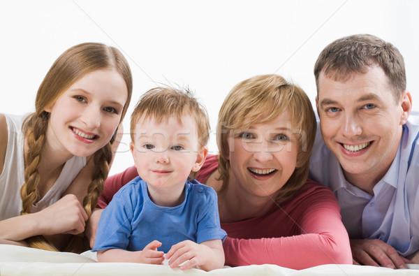 Stockfoto: Familie · portret · blijde · moeder · vader · kinderen