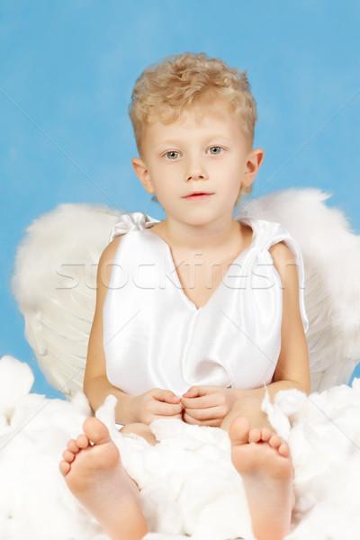 Homme ange portrait peu garçon angélique Photo stock © pressmaster