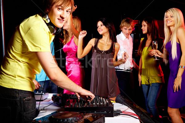 Boates inteligente deejay trabalhando discoteca dança Foto stock © pressmaster