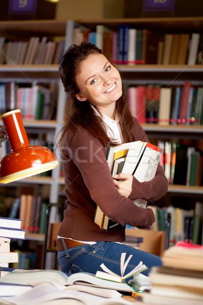 Tanult női portré okos diák fiatal Stock fotó © pressmaster