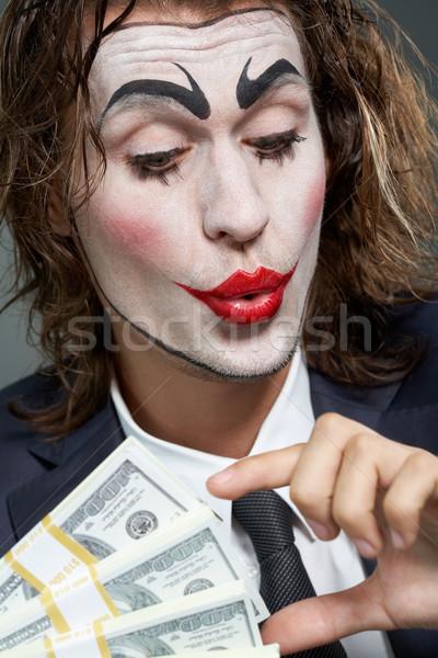 Színész üzletember portré férfi festett arc Stock fotó © pressmaster