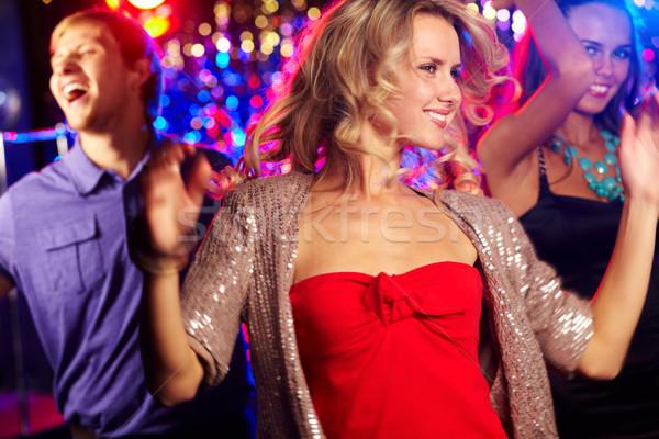 Ritme partij afbeelding energiek meisje dansen Stockfoto © pressmaster