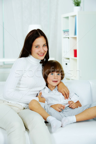 Stock photo: Girl with brother