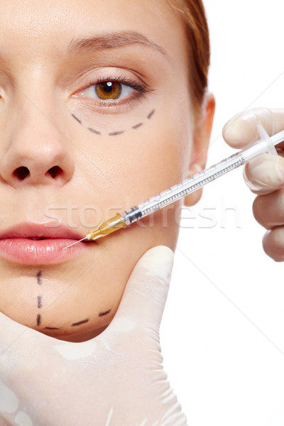 Injection of collagen Stock photo © pressmaster