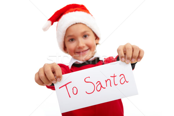 Stock photo: Letter to Santa