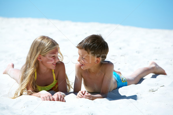 Restful children Stock photo © pressmaster