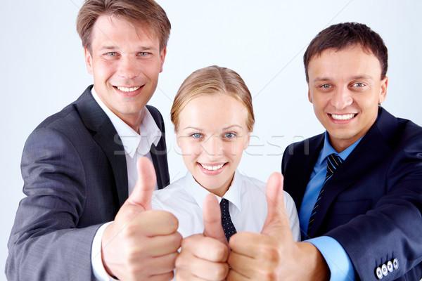 Foto d'archivio: Squadra · immagine · felice · uomini · d'affari